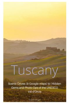 Discover hidden gems and photo spots along three scenic drives in Tuscany, complete with driving directions and Google maps, to help you navigate the UNESCO #Tuscany Val d'Orcia on your own. Scenic drives in Tuscany #Valdorcia