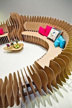 Circular #cardboard seating