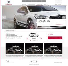 Citroen Dealer web site design on Behance