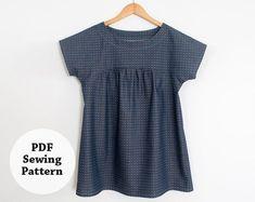 Ryan Top PDF-Schnittmuster Damenbekleidung von whitneydeal auf Etsy wie IzzyTop, für Frauen