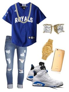 """Untitled #16"" by shmoneyybihh on Polyvore featuring Kensie, NIKE, Goldgenie, Rolex, men's fashion and menswear"