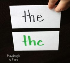 Sight Word Game: Showdown!! - Playdough To Plato