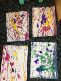 Marble painting for preschool art.