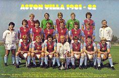ASTON VILLA FOOTBALL CLUB, 1981-82. Campeón de Europa al derrotar al Bayern Munich y Campeón de la SuperCopa al derrotar al F.C. BARCELONA.