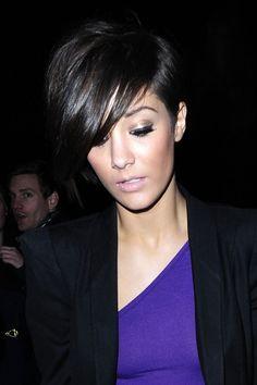 love this style! asymmetrical hair.