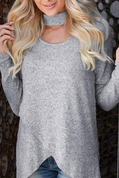 The casual irregular long sleeve pure color knitwer is a good choice of fashion and you will love it. Cardigan Outfits, Hoodie Outfit, Long Sleeve Sweater, Long Sleeve Shirts, High Collar Shirts, Latest Fashion Design, Oversized Cardigan, Cardigans For Women, Knitwear
