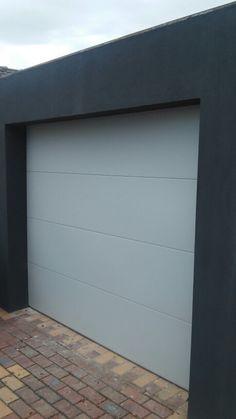 Shale grey surfmist madison sectional garage door. #garagedoorsmelbourne