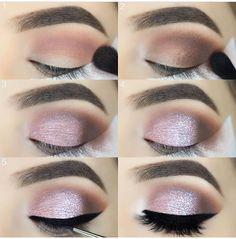 Make up tutorial How To Do Eyeshadow, Pink Eyeshadow, Eyeshadow Palette, Beautiful Eye Makeup, Simple Eye Makeup, Prom Makeup, Wedding Makeup, Makeup Tips, Beauty Makeup