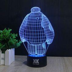 7 COLOR 3D LED BAYMAX LAMP