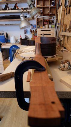 Fabrication d'une guitare folk www.adrien-collet-luthier.com