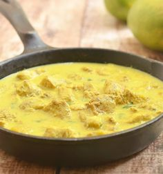 Mango Curry Chicken is sweet and savory stew made with chicken cubes simmered in the sweet and savory flavors of coconut milk, curry and mangoes via Mango Recipes, Pork Recipes, Chicken Recipes, Cooking Recipes, Thai Cooking, Recipies, Spicy Dishes, Curry Dishes, Tasty Dishes