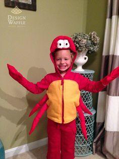 DIY Sebastian Crab Costume Little Mermaid
