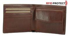 Herrenbörse Soderini Marrone braun RFID-Schutz The Bridge Leder The Bridge, Wallet, Leather, Purses, Diy Wallet, Purse