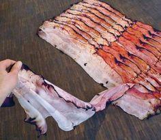 Bacon Scarf: A Scarf That Looks Exactly Like Delicious Bacon
