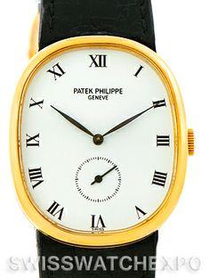 Patek Philippe Golden Ellipse 18k Yellow Gold Watch 3948