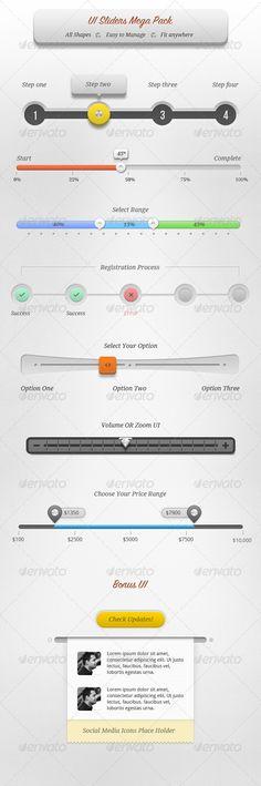 UI Sliders Mega Pack