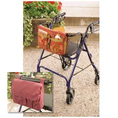Kwik Sew Wheelchair & Walker Carryaall & Bag (3927) Pattern from @fabricdotcom  Caddy hangs over rail, has fleece inner lining, Velcro® closure on back, pockets, ties, and outside edges are finished with bias cut bindings. Carrier Bag is lined, has inside zipper pocket, front outside pocket, and straps with Velcro® closure.<br><a href=https://s3.amazonaws.com/fabric-pdf/K3927.pdf>Click here for pattern back.</a> <br>