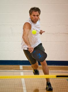 Seniors getting exercise with pickleball