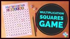 "Want a fun, no-prep multiplication facts game to use in your math centers tomorrow? Read about how we've ""mathified"" the popular squares game to practice multiplication facts!"
