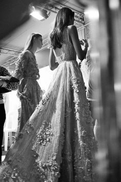 vogue-at-heart: Backstage at Elie Saab Couture...