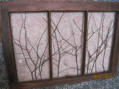 Our bedroom - Old Window Decor Reclaimed RED Vintage Wooden Art Wall Picture Rustic Shabby Chic