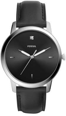 Buy Fossil Men Minimalist Carbon Series Stainless Steel and Leather Diamond Accent Dress Quartz Watch Black Leather Watch, Watch Model, Black Stainless Steel, Mens Gift Sets, Emporio Armani, Quartz Watch, Black Silver, Versace, Tommy Hilfiger
