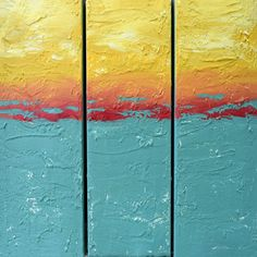 EXTRA LARGE WALL art triptych 3 panel wall art  by wrightsonarts