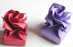 """How to make Origami Versailles box"" takes some time, but this is gorgeous :)"