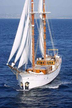 Val, Case and Sage's schooner
