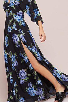 8029ffa536b1 Yumi Kim Kimono Maxi Dress #anthropologie #ad Black Floral Maxi Dress,  Anthropologie Wedding