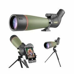 Gosky Spotting Scope Tripod 2019 Updated 20 60x80 Hd Waterproof Green Outdoor Smartphone Adapter Spotting Scopes Bird Watching