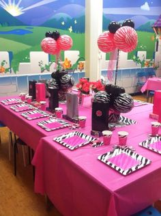 Hello Kitty zebra 1st Birthday birthday party Party Ideas Hello