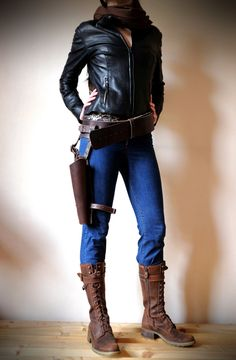 Jyn Erso Inspired Real Leather Belt Holster - Brown - Star Wars, Rogue One, Cosplay, Please read description for sizes by Vontoon on Etsy