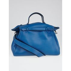 Pre-owned Hermes Colvert Evercolor Leather Palladium Plated Oxer... ($5,295) ❤ liked on Polyvore featuring bags and luggage