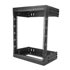 "StarTech.com Wall Mount Server Rack - 12U Rack - 12- 20"" Adjustable Depth - Open Frame - Network Rack - Computer Rack - Equipment Rack (RK12WALLOA)"