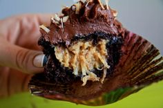 German Chocolate Filled Cupcakes - I'll be making these in a couple weeks for a friends birthday.. yummy!