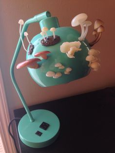 milkattack: I'm obsessed with these fungi magnets I got they look so good on my desk lamp Room Ideas Bedroom, Dream Bedroom, Bedroom Decor, Keramik Design, Aesthetic Room Decor, My New Room, Room Inspiration, Diy And Crafts, Creations