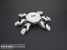 Zoobotics // ZURI: Paperbot System by Muthesius alumnus Daniel Kocyba. A kit for building and programming robots made of paper, cardboard and electronis.
