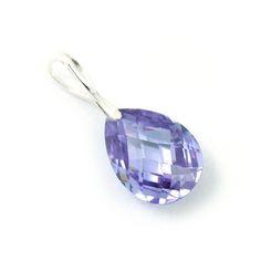 A drop of lilac cubic zirconia.