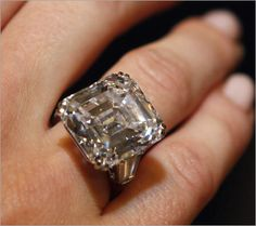 23 Carat Harry Winston diamond right. Worth about $1.2million well I would accept this as a gift :)