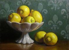 Debra Becks Cooper | OIL | A Bowl of Lemons
