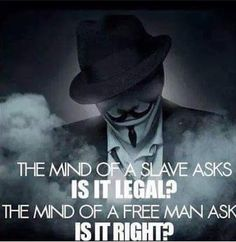 The mind of a slave vs the mind of a free person.