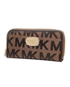 c524f316dcca16 PRODUCTS DESCRIPTION * Michael Kors Wallet Continental Logo Brown * Brown  signature logo canvas. *