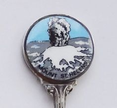 Collector Souvenir Spoon USA Washington Mount St. Helens May 18th 1980