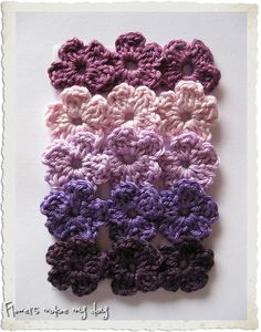 crochet buttercup flowers