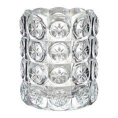FLEST lämpökynttiläkuppi, kirkas lasi Korkeus: 8 cm Halkaisija: 7 cm