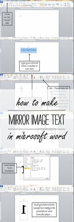 how to make mirror image text in Microsoft Word - It All Started With Paint