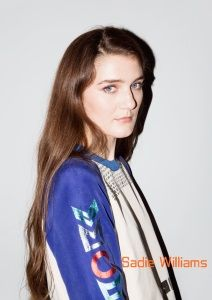 Sadie Williams's playful, feminine designs underscore bold texture, pattern and color. Sadie Williams, British Style, British Fashion, London Fashion, Rain Jacket, Bomber Jacket, Fashion Courses, Fashion Company, Adidas Jacket