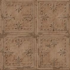 Customize any space or decor with Copper Tin Tile Peel & Stick Wallpaper by RoomMates. Offering a fresh new alternative to decorating with very little commitment, use Peel and Stick Wallpaper for more than just walls. Great for upgrading walls, furni Peelable Wallpaper, Tile Wallpaper, Wallpaper Panels, Wallpaper Roll, Peel And Stick Wallpaper, Pattern Wallpaper, Washable Wallpaper, Paintable Wallpaper, Adhesive Wallpaper