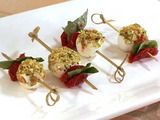 Sun-Dried Tomato and Goat Cheese Skewers Recipe - an easy recipe and unexpectedly delicious combination!